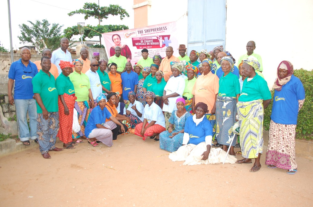 with cross-section of the beneficiaries